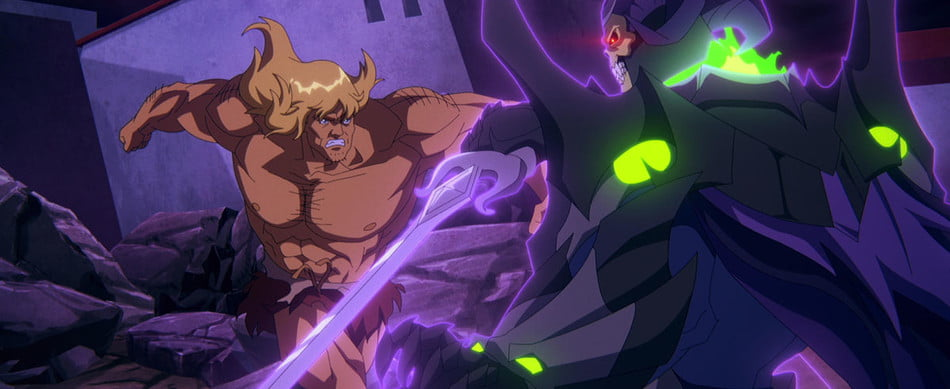 Savage He-Man vs. Skeletor in Masters of the Universe: Revelation - Part 2.