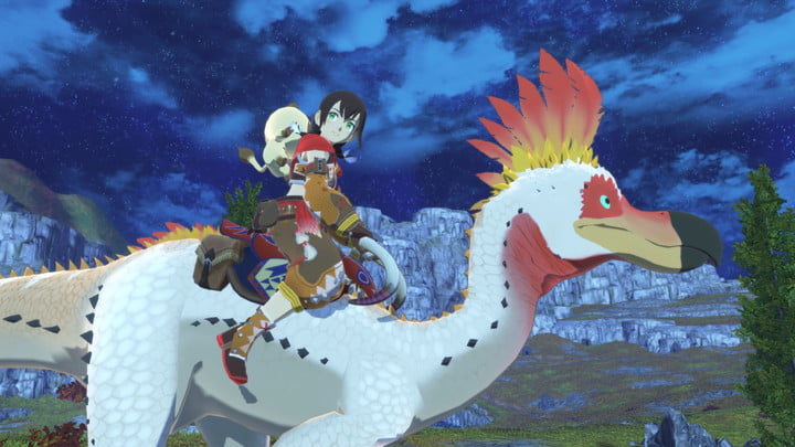 A rider rides a monster in Monster Hunter Stories 2.