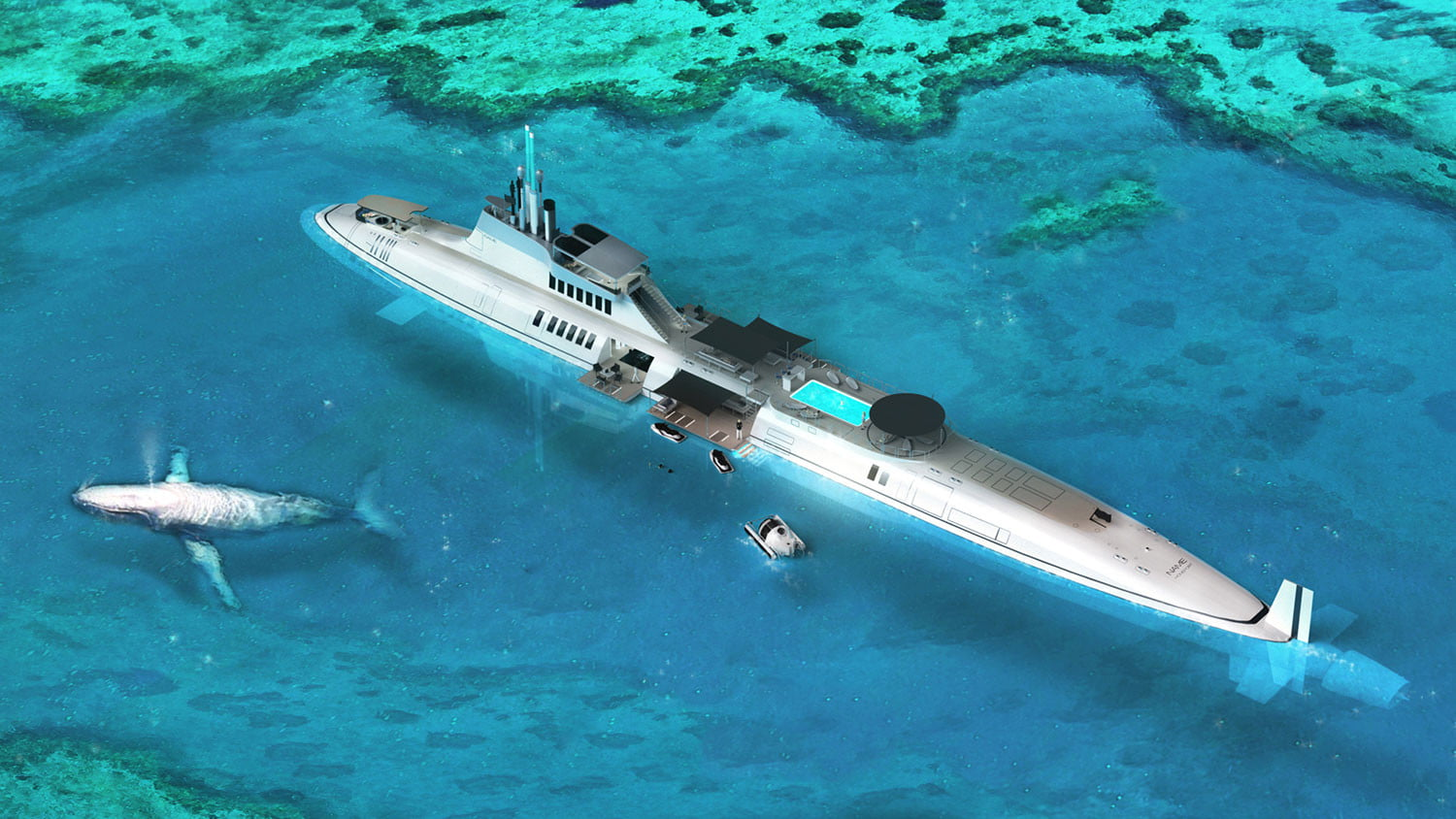 migaloo kokomo ailand is a moveable man made private island submersible superyacht 001
