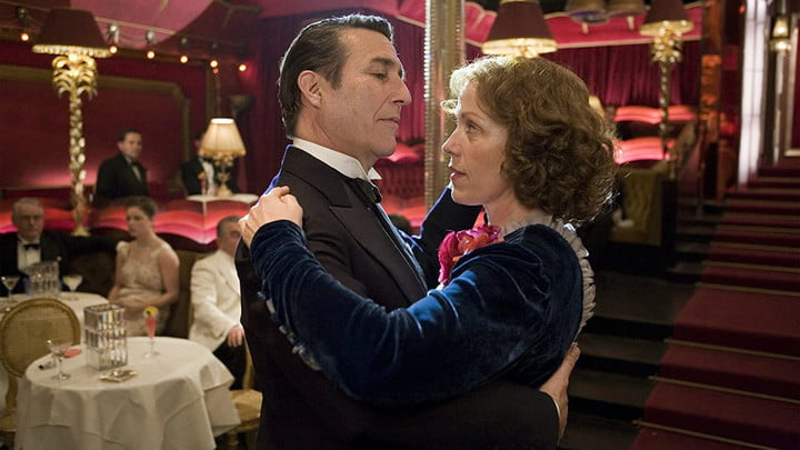 Ciarán Hinds and Frances McDormand in Miss Pettigrew Lives for a Day.