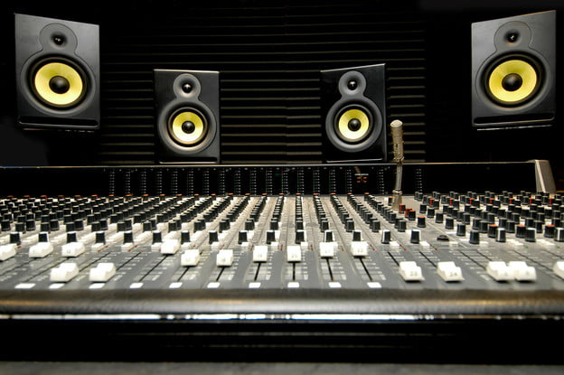 Mixing Console with monitors