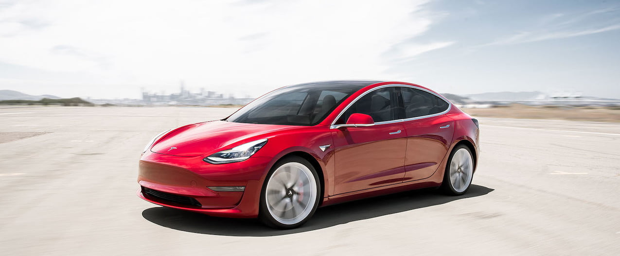 cheapest electric cars tesla model 3 performance red motion