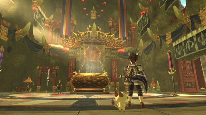 The interior of a large throne room.