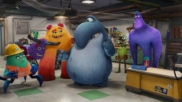 A scene from the Disney+ series Monsters at Work.