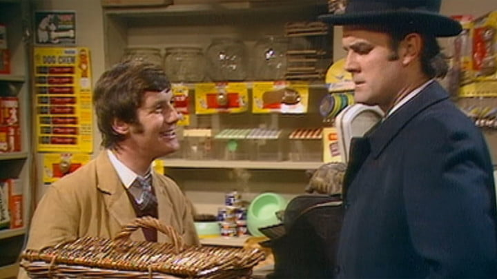 A scene from Monty Python's Flying Circus.
