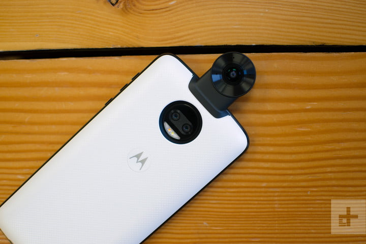 Moto Z2 Force hands-on review white camera back
