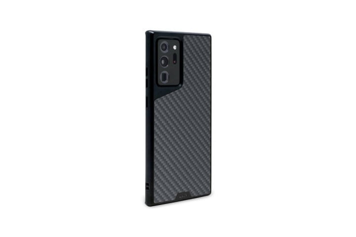 The Limitless 3.0 Case in black Aramid Fiber for the Samsung Galaxy Note 20 Ultra.