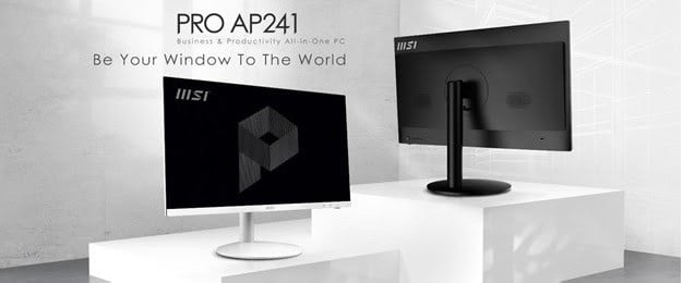 A picture of the new MSI PRO AP241 PC.