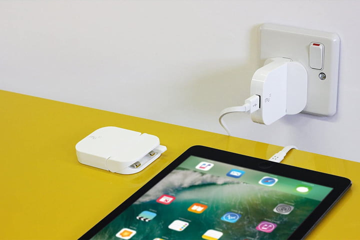 Mu Portable International Charger works with anything.