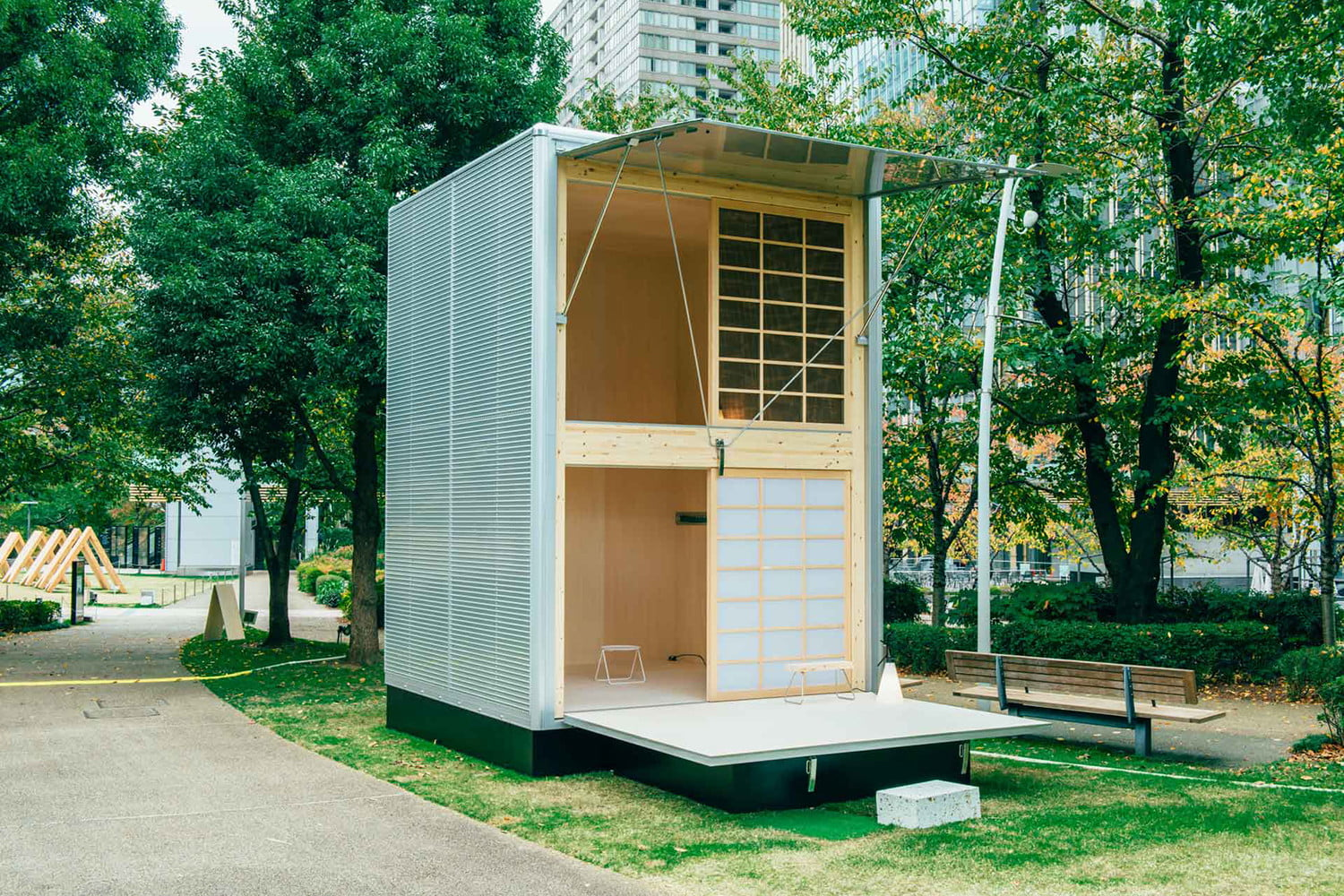 the muji hut is a micro home made for japan of aluminum 02