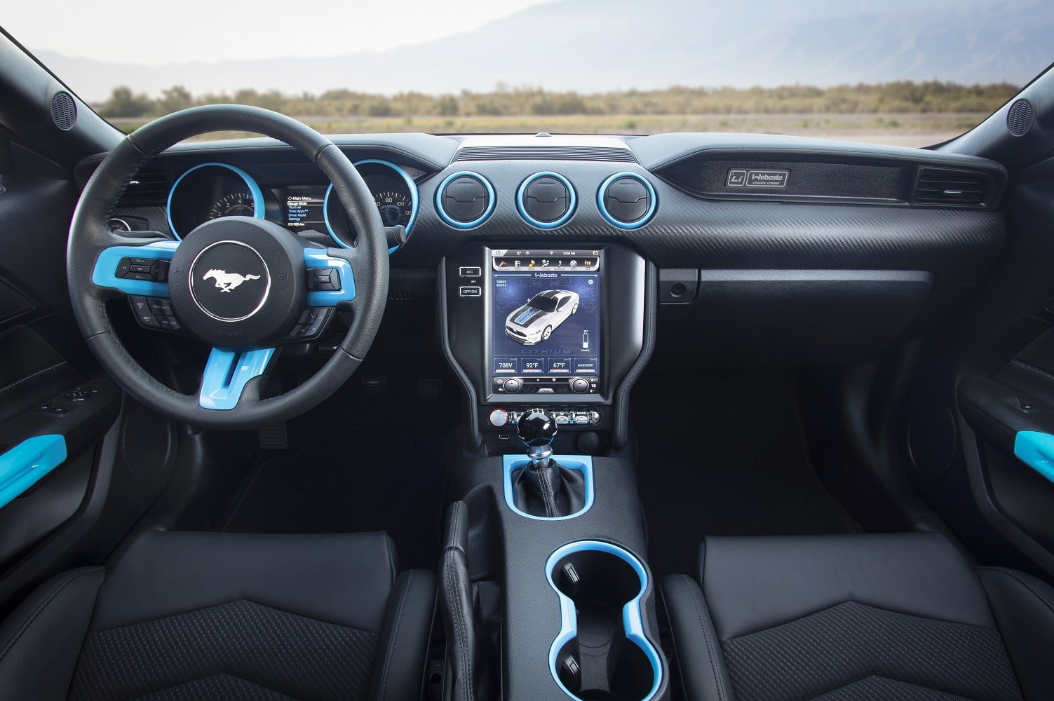 ford mustang lithium electric muscle car concept shown at sema 2019