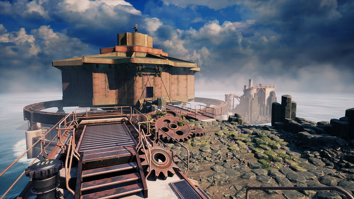 Gameplay from Myst remake.