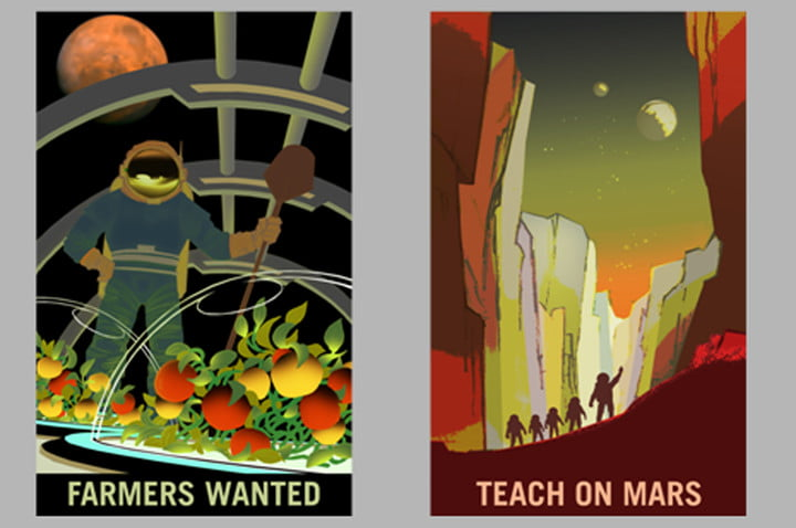 nasa mars recruiting posters  farmers and teachers on 1200x799