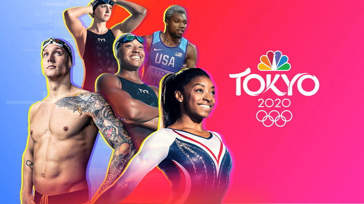 Watching the Olympics on NBC Primetime on TV.