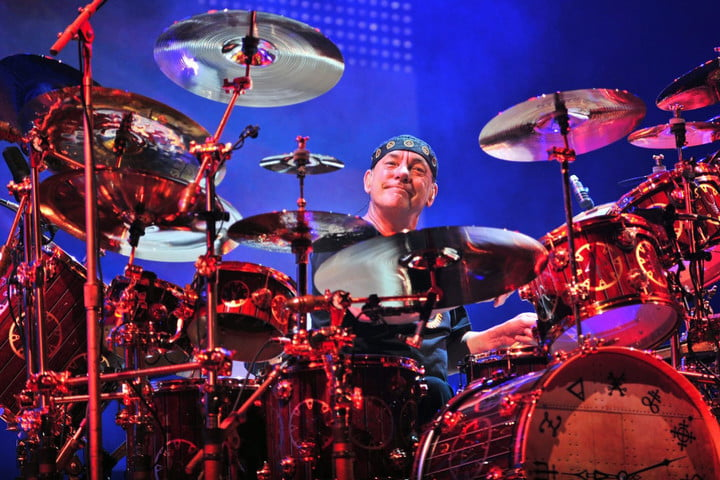 neil peart rush drummer retired performance playing music large