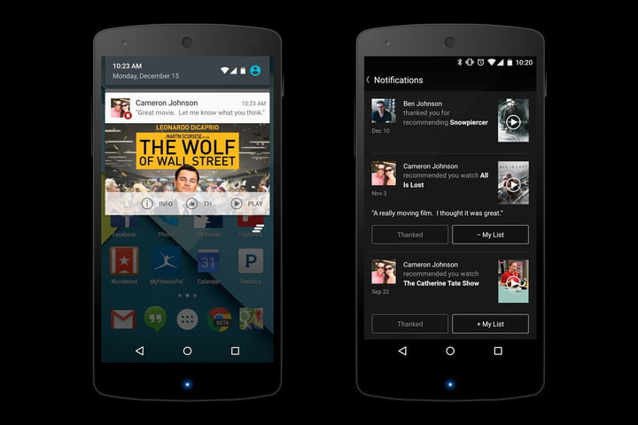 netflix updates android app adds smartwatch control social