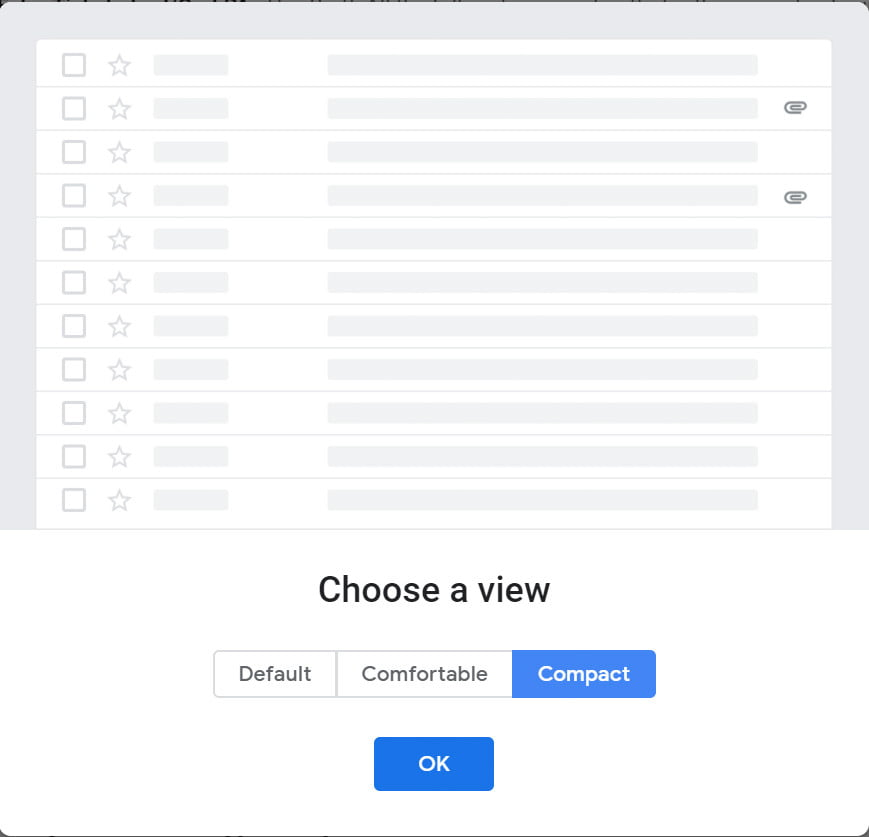 google gmail revamp new interface view compact
