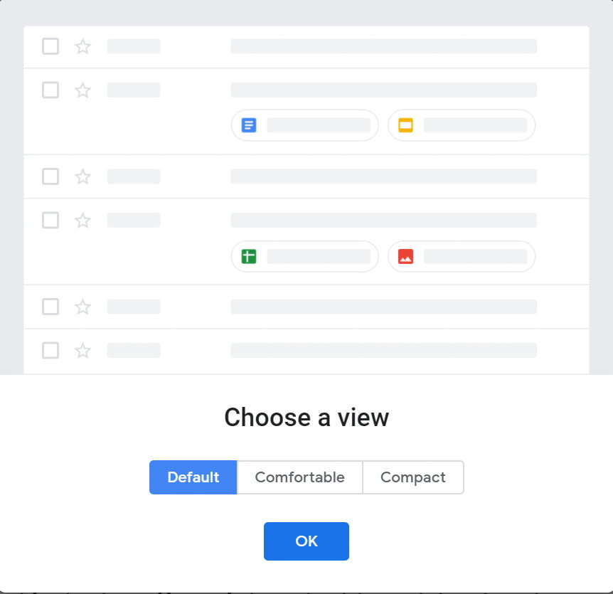 google gmail revamp new interface view default