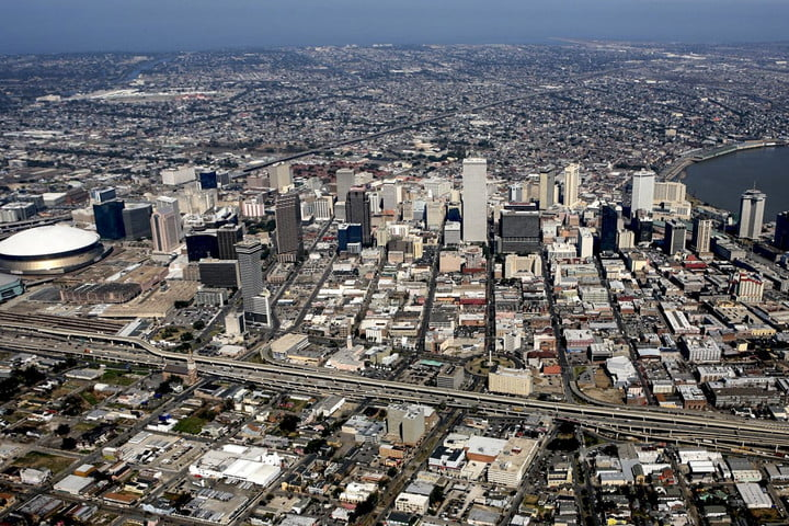 road rave the best cities for self driving cars new orleans aerial