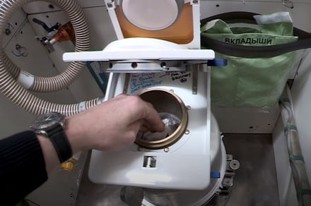 Space station toilet flushes its way to a new milestone