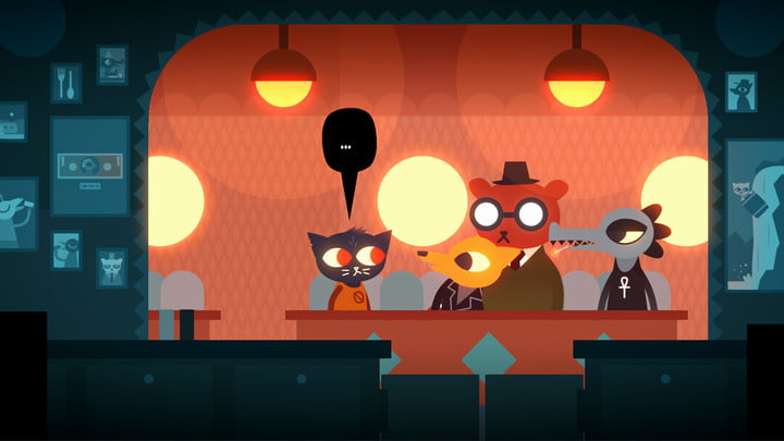 Night in the Woods player chatting with NPCs.