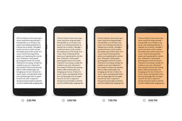 google play books adds night light to cut out that nasty blue