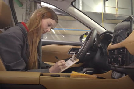 Nissan employs certified smellers to check the odor of its new cars