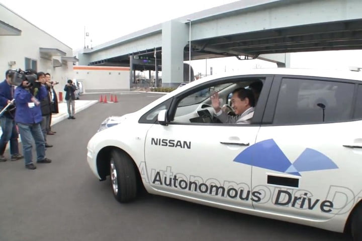 nissan self driving car tested test drive