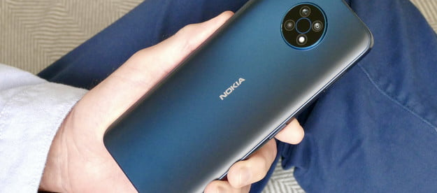 The Nokia G50 in blue.