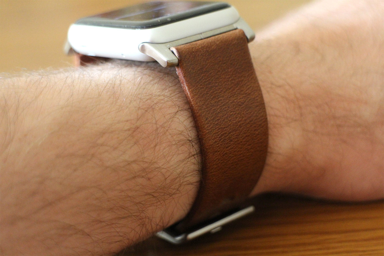 best Apple Watch bands Nomad Leather Strap side