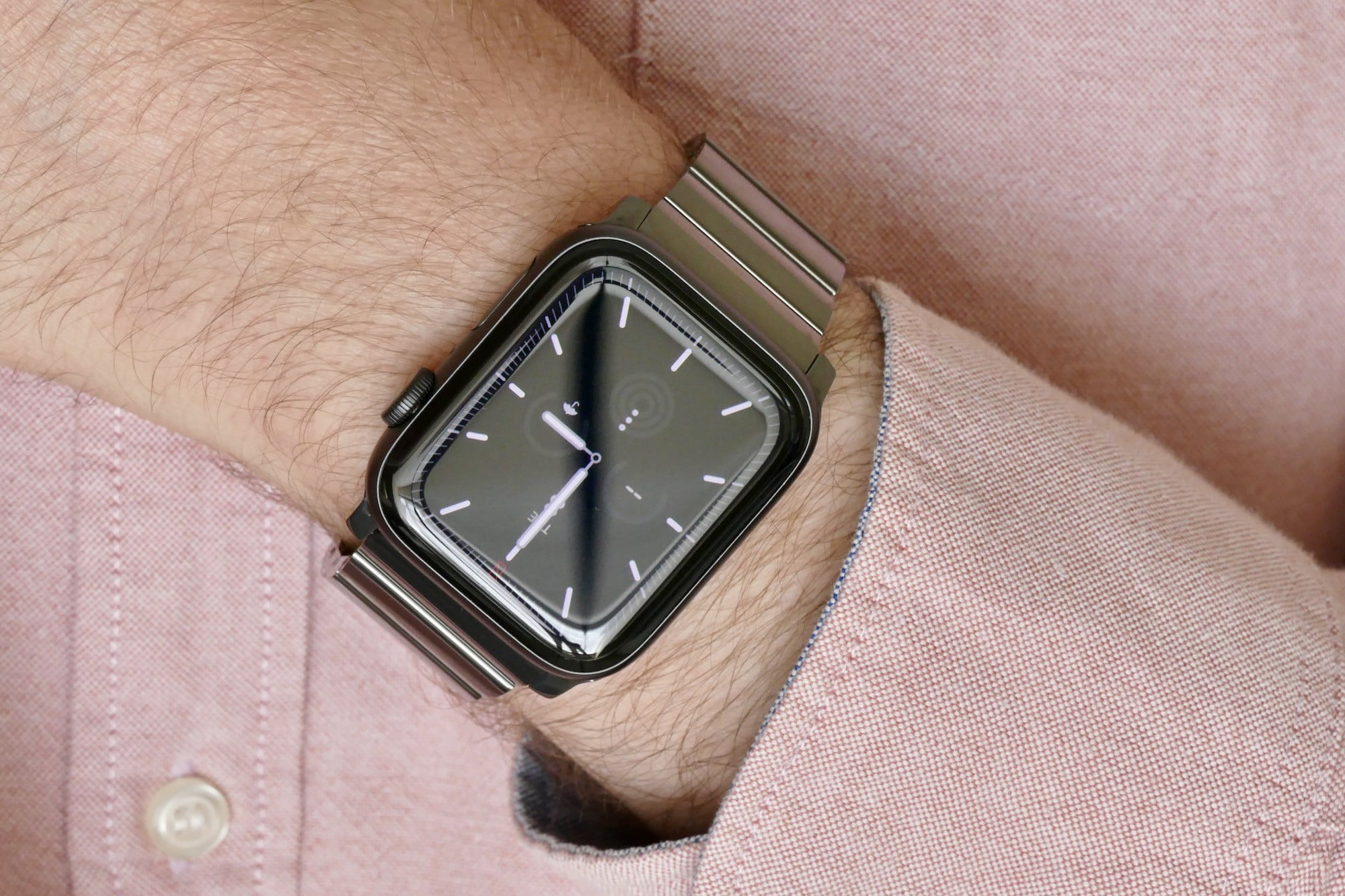 nomad titanium steel band apple watch hands on photos price release date space grey