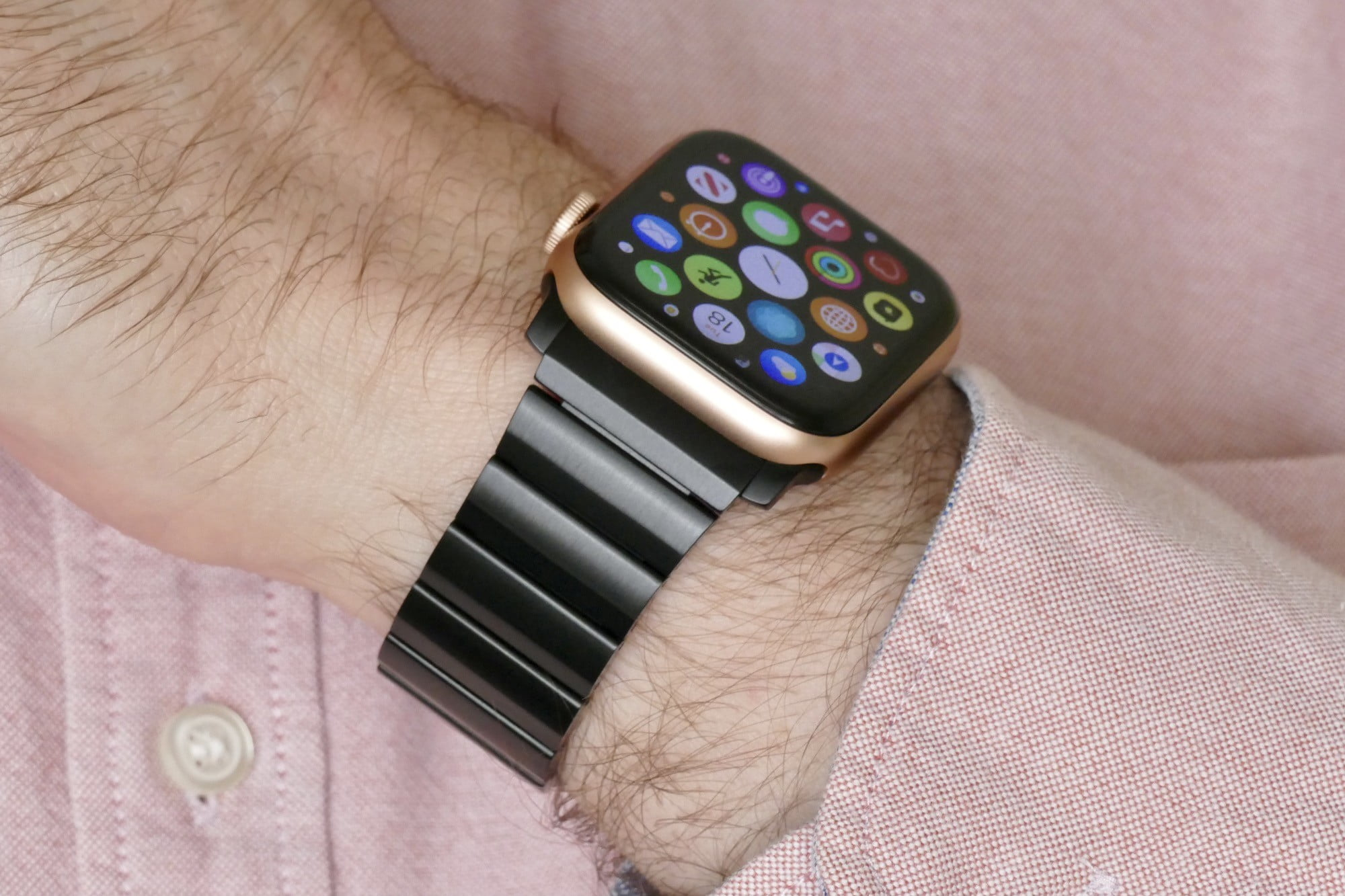 nomad titanium steel band apple watch hands on photos price release date se gold wrist side