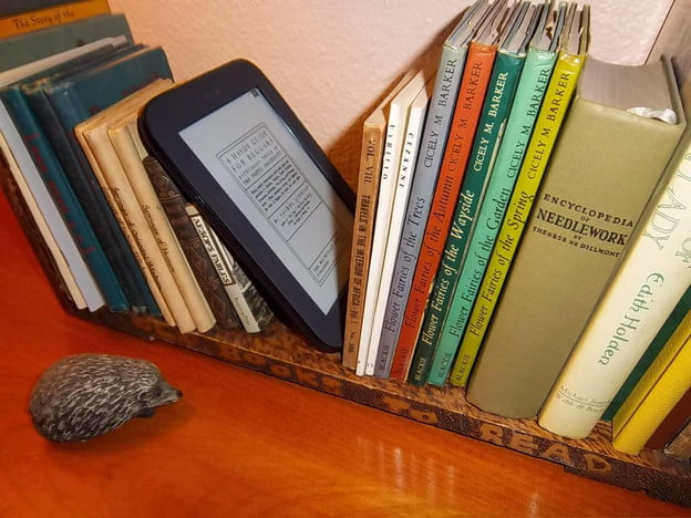 Nook on a book case