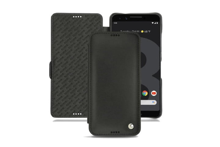 Noreve Tradition D Leather Case in black for the Google Pixel 3.