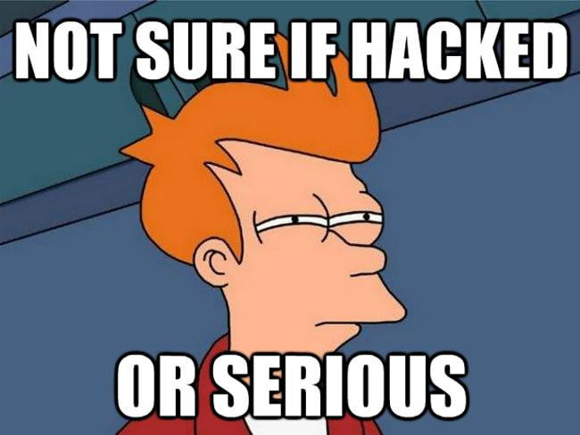 not sure if hacked