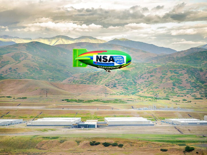 activists take skies nsa spying protest blimp