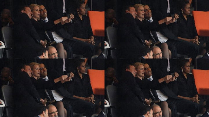 obama takes funeral selfie internet collapses like dying star collage