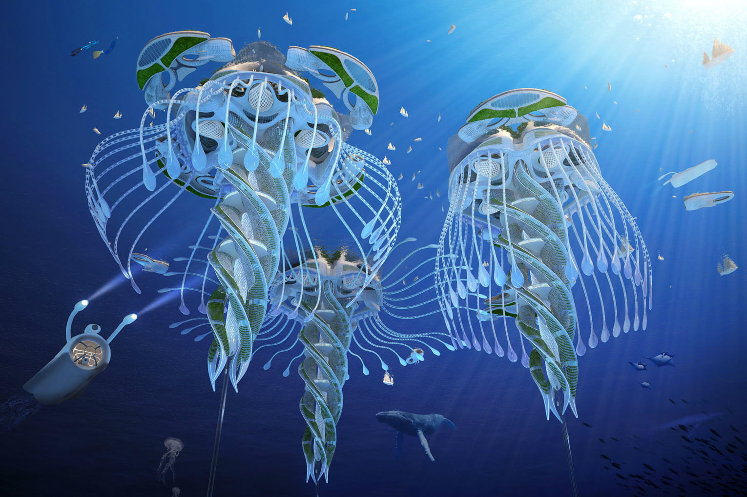 vincent callebaut imagines 3d oceanscrapers made of trash oceanscraper 6