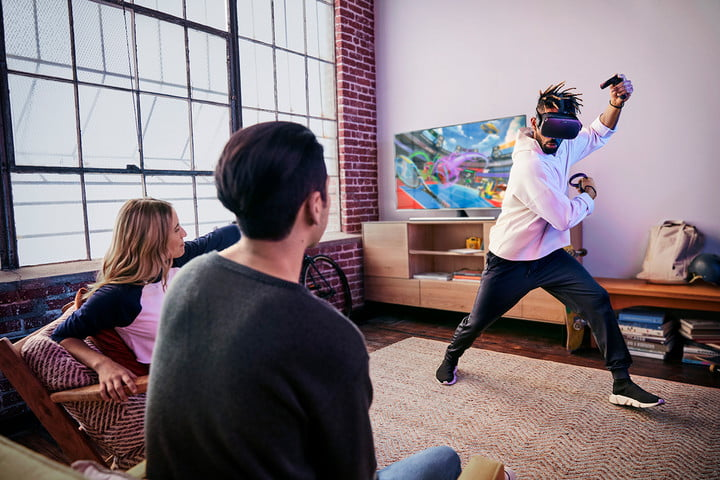 Oculus Quest 2 being used by player.