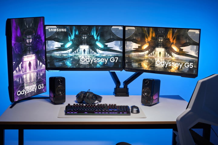 Samsung expands Odyssey gaming monitor lineup with new flat screen options.