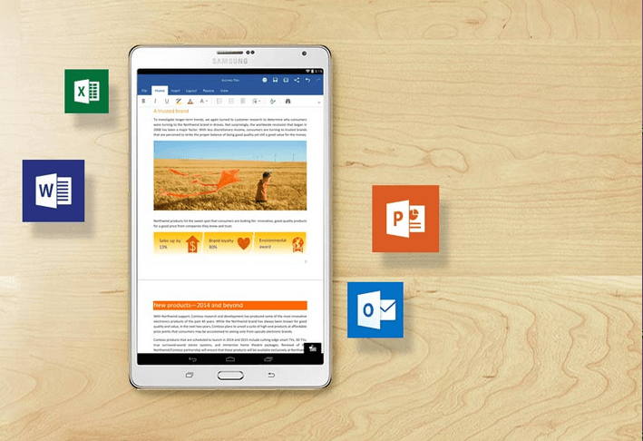 microsoft office ios android 100 million downloads on