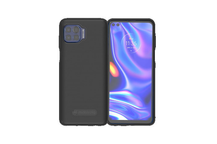 The Official Motorola Protective Case on the Motorola One 5G.