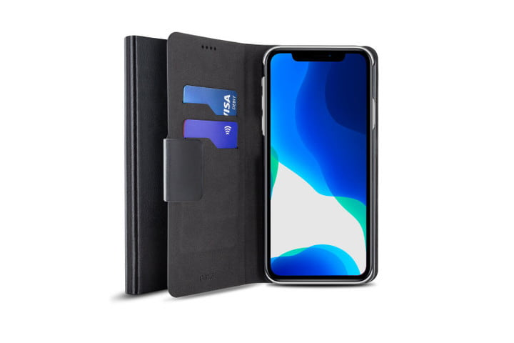 Olixar Leather-Style iPhone 11 Wallet Stand Case.