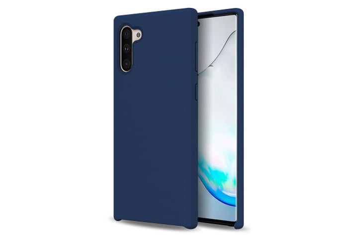 Olixar Soft Silicone Case for Samsung Galaxy Note 10 in Midnight Blue