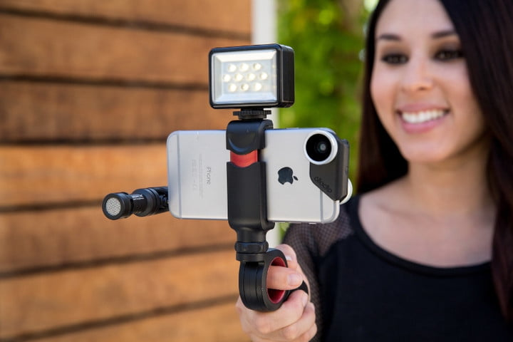 olloclip pivot grip for smartphones gopro mobile videography