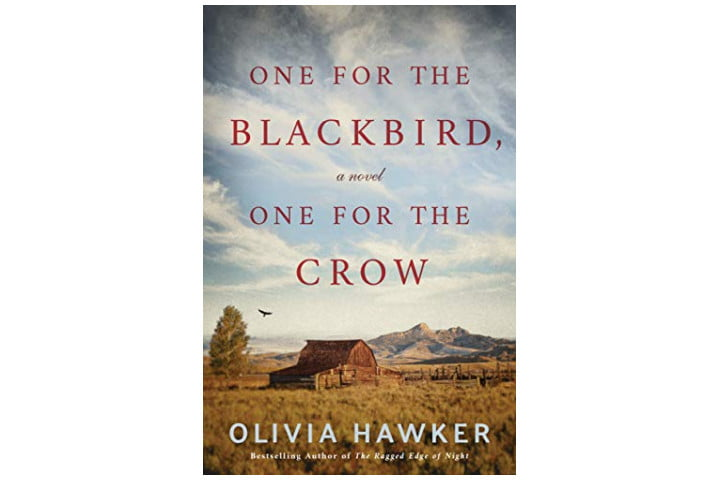 Photo shows the cover of the book with a view of the Wyoming countryside and the title in red font