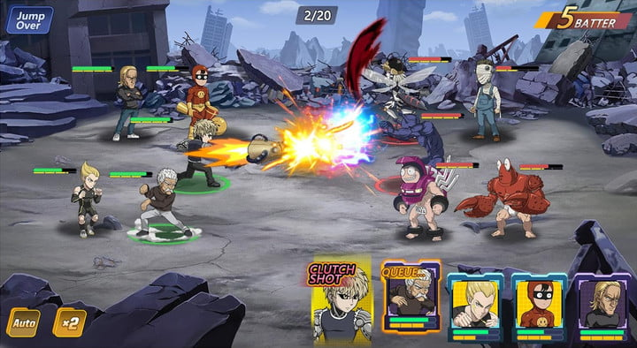 One-Punch Man: Road to Hero 2.0 game on Android.
