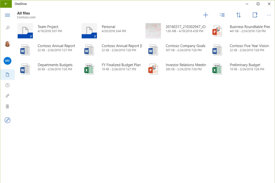 onedrive touch friendly windows store app tablet files