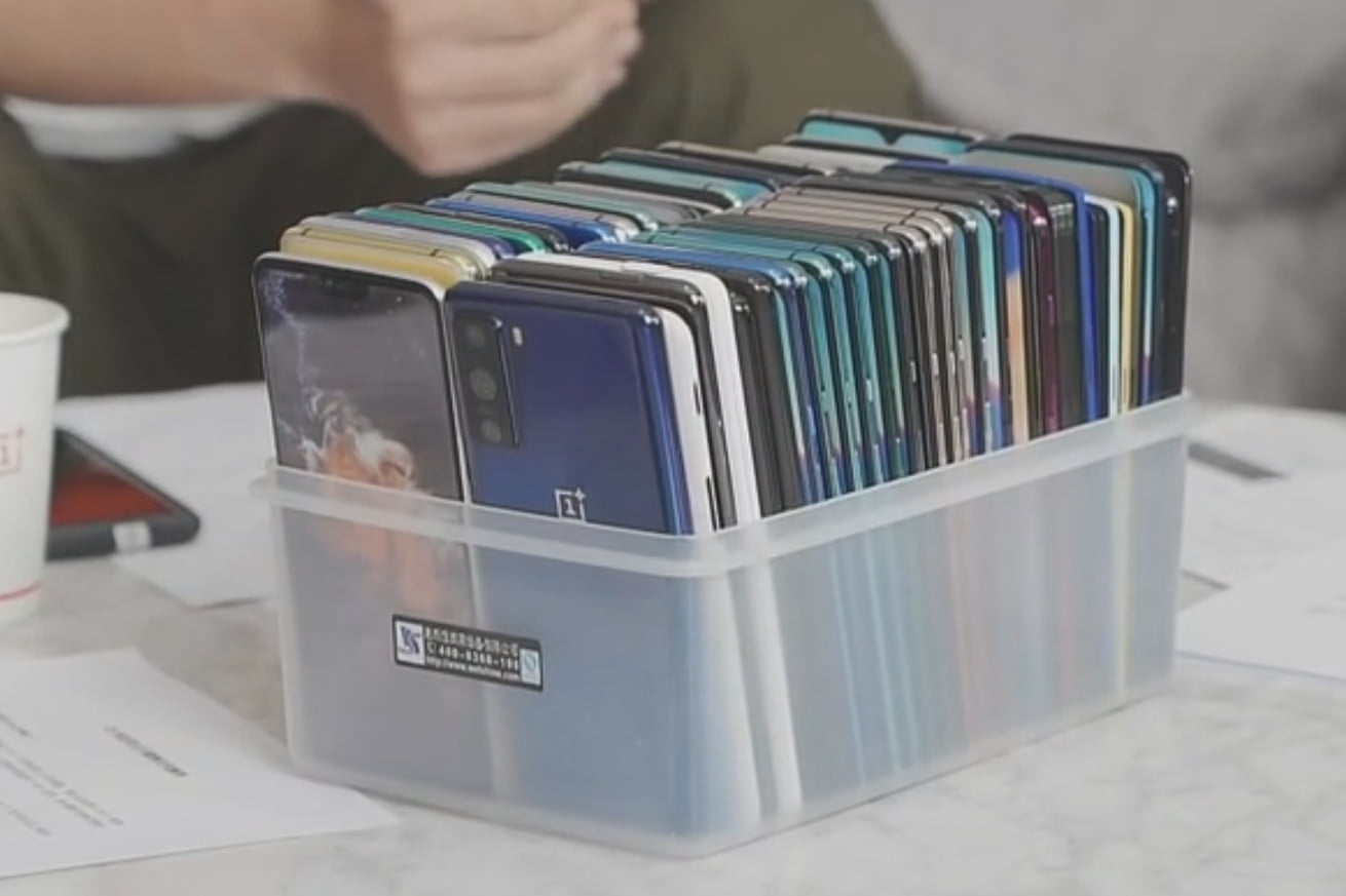 alleged oneplus 8 lite shown in pete lau video dummy pictures angled