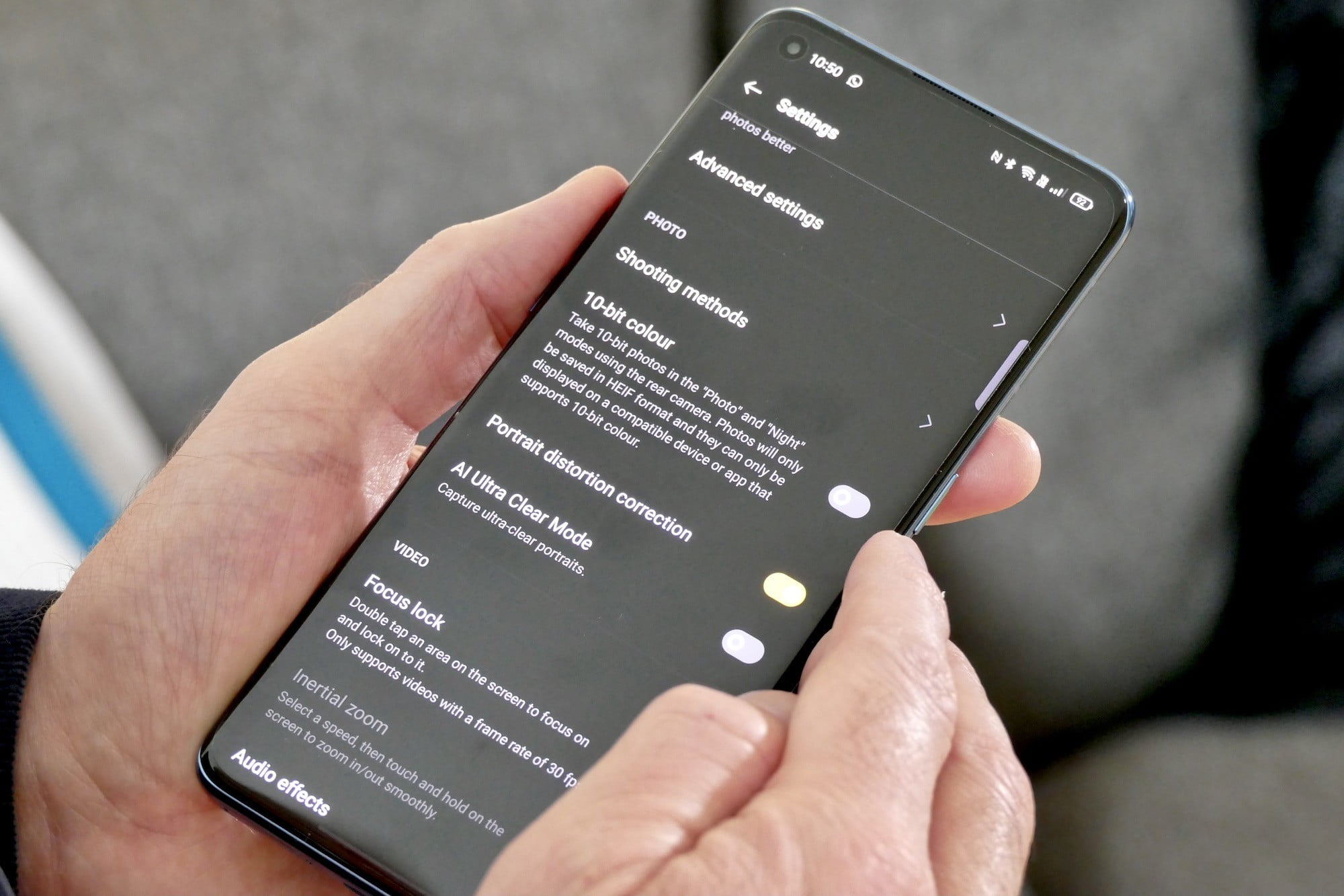 oppo find x3 pro review 10 bit setting